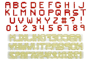 FMM Cutter Set - Alphabet Upper Case & Number - PIXEL