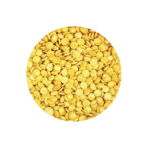 Yellow Gold Confetti Sprinkles Bulk 300g