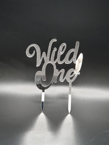 Wile One cake topper.