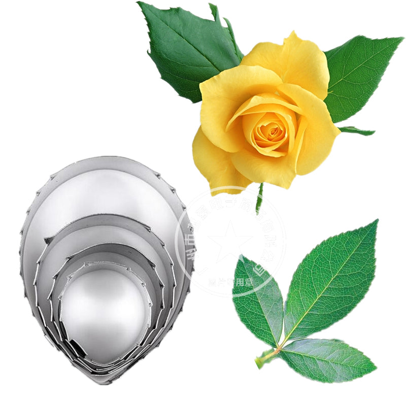 Rose Leaf Cutters Set 4pc