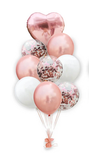 Rose Gold 9-Piece Helium/ Latex Balloon Set