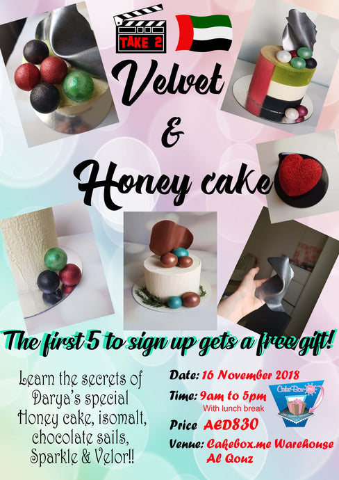 Take 2: Darya's Velvet an Honey Cake class!