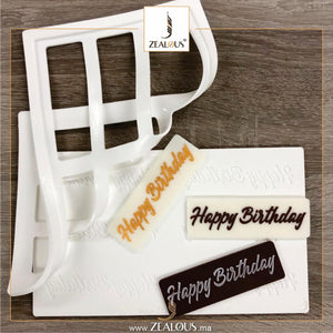 Zealous Deco Happy Birthdsay  Mould (059)