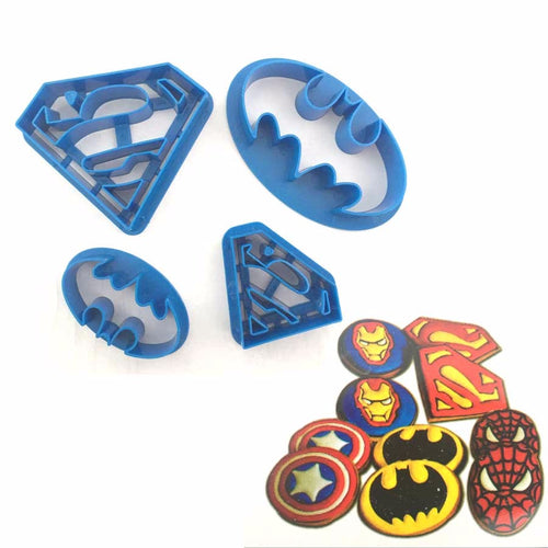 Super Hero Batman Superman 4Pc Cookie Cutter