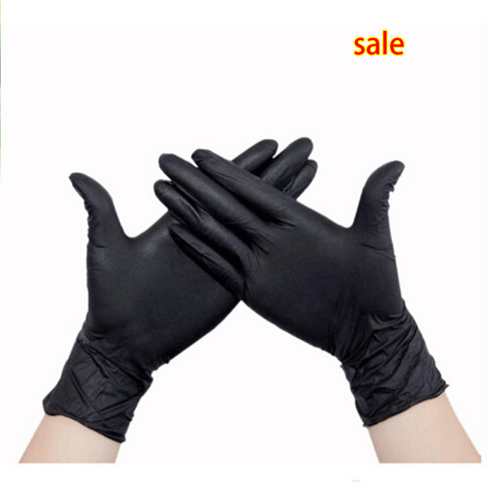Disposable Plastic Black Gloves