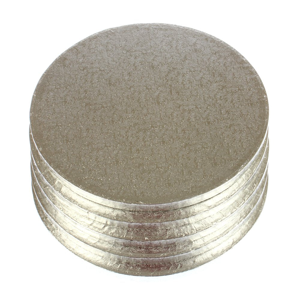 PREMIUM SILVER DRUM BOARDS - 10 INCH ROUND Bulk 5 Pieces