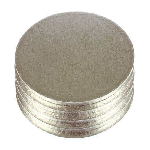 PREMIUM SILVER DRUM BOARDS - 12 INCH ROUND Bulk 5 Pieces