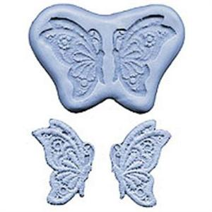 Butterfly side Lace Maker Mould 2-1/4 Inch Butterfly Silicone Mold