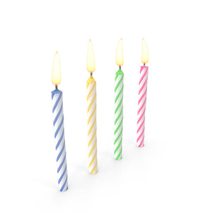 Multi Happy Birthday Candle set of 10