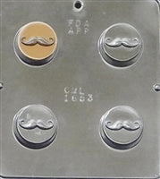 Oreo Sandwich Cookie Chocolate Mold Mustache