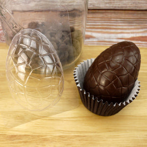 Cracked Half Easter Egg Chocolate  Mold