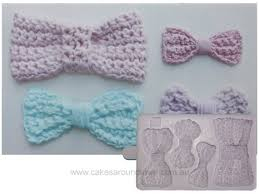 Crochet Bow Cupcake mould