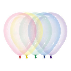 Crystal Pastel Latex Balloons 5in, 16 pcs