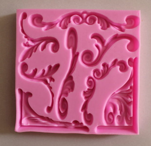 Filigree Edges border Silicone Mould