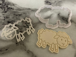 Sheep  Cookie cutter and Embosser set.