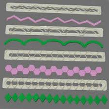 Geometric Edging set of 4