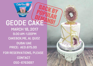 Learn the ART of Geode Cake!-18th March- Saturday