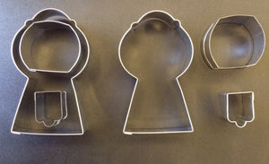 Gumball Machine Cookie Cutter-3 piece set