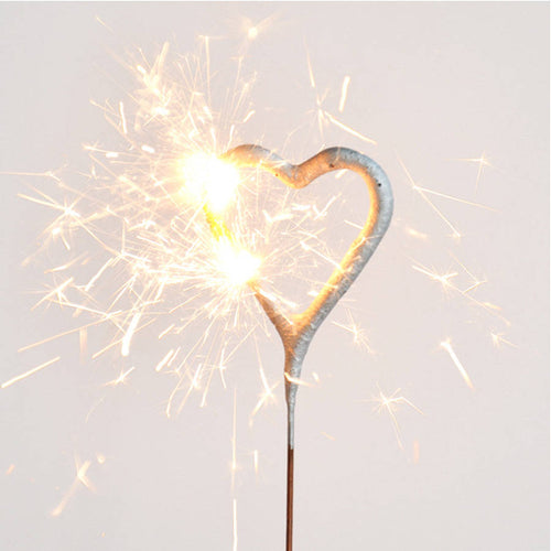 The Golden Sparkling Candle Heart
