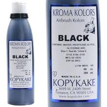 Kroma Black Air Brush Colour 4oz/118ml  (Expiry Date 19.01.2019)