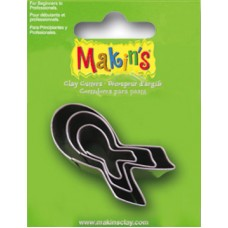 Makin's USA 3 pc. Cutter Set - Breast Cancer  Ribbon