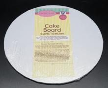 White Round Masonite (MDF) Cake Board 5mm thick- 10 INCH ROUND Bulk 5 Pieces