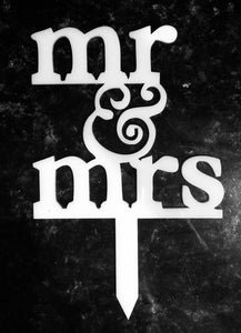 Wedding Cake Topper,  Mr & Mrs