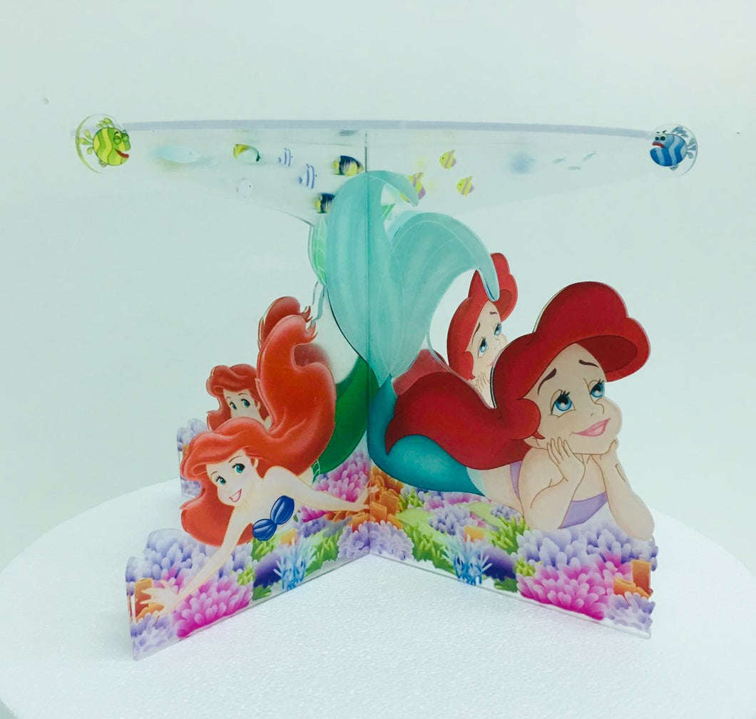 Under The Sea Mermaid Acrylic Cake stand