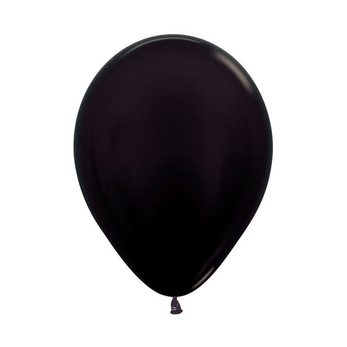 Black Latex Balloons 5in,