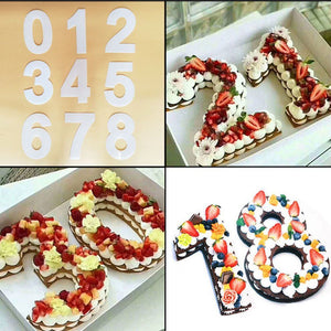 Number Cake Stencil Mould