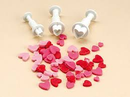 Heart Shape Plunger Cutter Set 3
