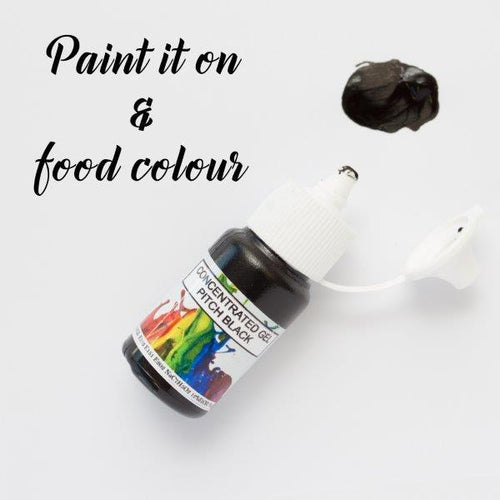 ROLKEM GEL CONCENTRATE PAINT PITCH BLACK (15ML)