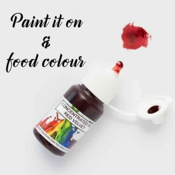 Rolkem - Red Velvet - Concentrates Edible Paint 15ml