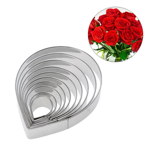 Floral Cutters - Rose Petal Large to Small (10 Set)