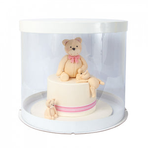 "13.2inch PVC ROUND Cake Box Luxurious range.(7"" height)"