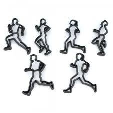 RUNNER SILHOUETTE 6 Pc Icing Sugarcraft Cutter Set
