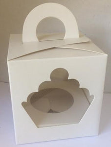 25  SINGLE CUPCAKE BOX WITH INSERT - Bulk Buy 25 Pieces