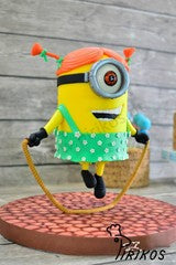 SKIPPING MINION (PIRIKOS CAKE DESIGN) STRUCTURAL CAKE CLASS INTERMEDIATE LEVEL (REPEAT)
