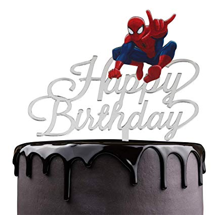 Spiderman Happy Birthday Cake Topper