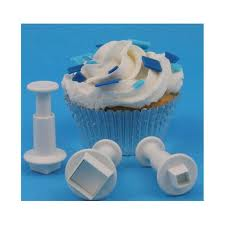 Mini Square 3 piece icing plunger cutter set