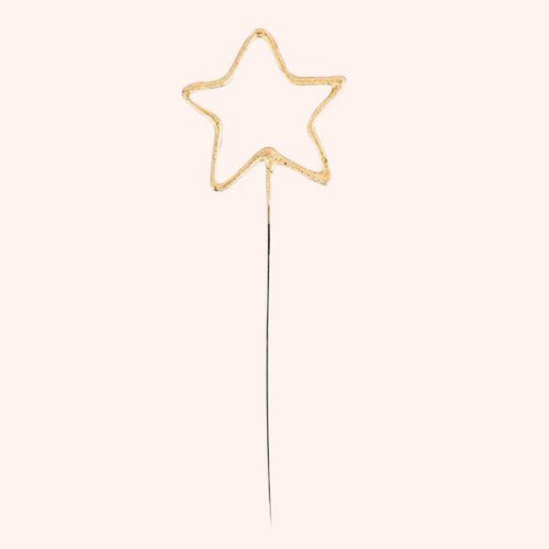 GOLDEN SPARKLING CANDLE WAND - STAR