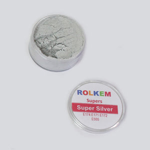 Rolkem - Super Silver - Metallic Edible Luxury Lustre Dusting Powder 10ml
