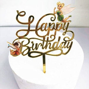 Tinkerbell  Acrylic Birthday cake topper