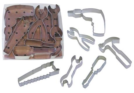 Tool Kit Cookie Cutter Set of 6