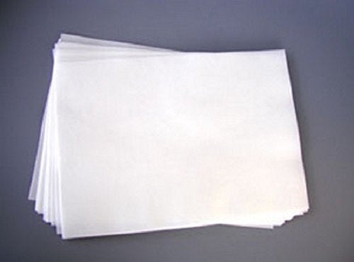 "100 Sheets Edible Rectangle Rice and Wafer Paper, 7"" by 11"", White"
