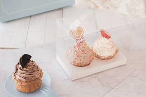 Clear cupcake box for 2