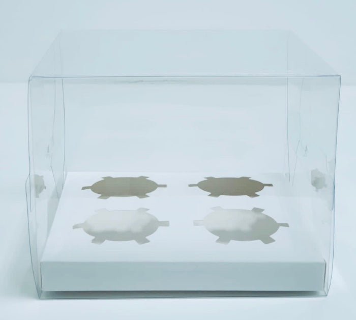 Clear cupcake box (4 Hold)