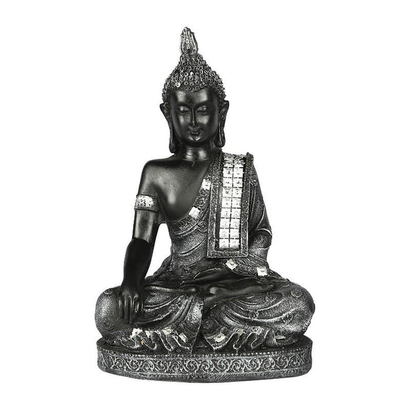 Meditating Buddha Idol, Grey