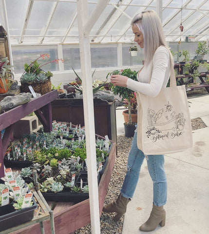 Botanical Babe Tote Bag
