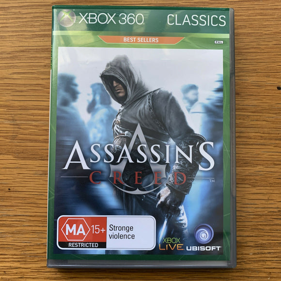 Assassin's Creed - for Microsoft Xbox 360 - Case, Disc, Manual - Complete